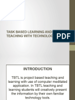 Task Based Learning and Teaching With Technology Ppt