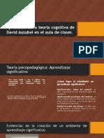 Aplicacion de La Teoria Cognitiva de David Ausubel en el aula de clases