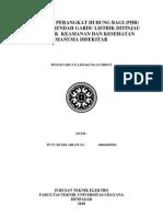 Spesifikasi Perangkat Hubung Bagi (Phb) Tegangan Rendah Gardu Listrik Ditinjau Dari Aspek Keamanan Dan Kesehatan Manusia Disekitar