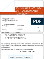 floating point subtraction and division