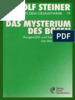 STEINER - TTB-19 - DAS  MYSTERIUM  DES  BÖSEN