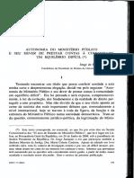 (2007) Jorge de Figueiredo Dias - Autonomia Do Ministério Público e Seu Dever de Prestar Contas à Comunidade - Um Equilíbrio Difícil