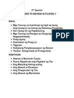 Pointers to Review (Filipino)