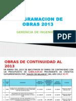 Obras Programadas y Ejecutadas 2013 Para Directorio