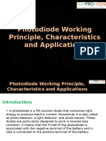 Photodiode Working Principle Characteristics and Applications