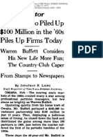 WSJ 1977 Article on Warren Buffett