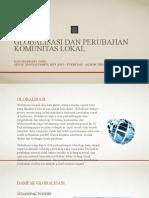 Globalisasi Dan Perubahan Komunitas Lokal