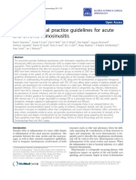 Guideline for Acute and Chronic Sinusitis