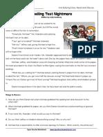 Bullying Story Spelling Test SPELL