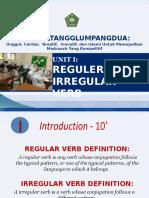 VUnit 1 - Regular or Irregular Verb