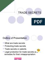 Trade Secrets Ppt....