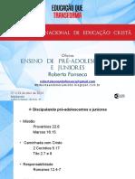 Ensino de Pre Adolescentes e Juniores Roberta Fonseca