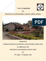 Workshop Brochure - Fin Econometrics