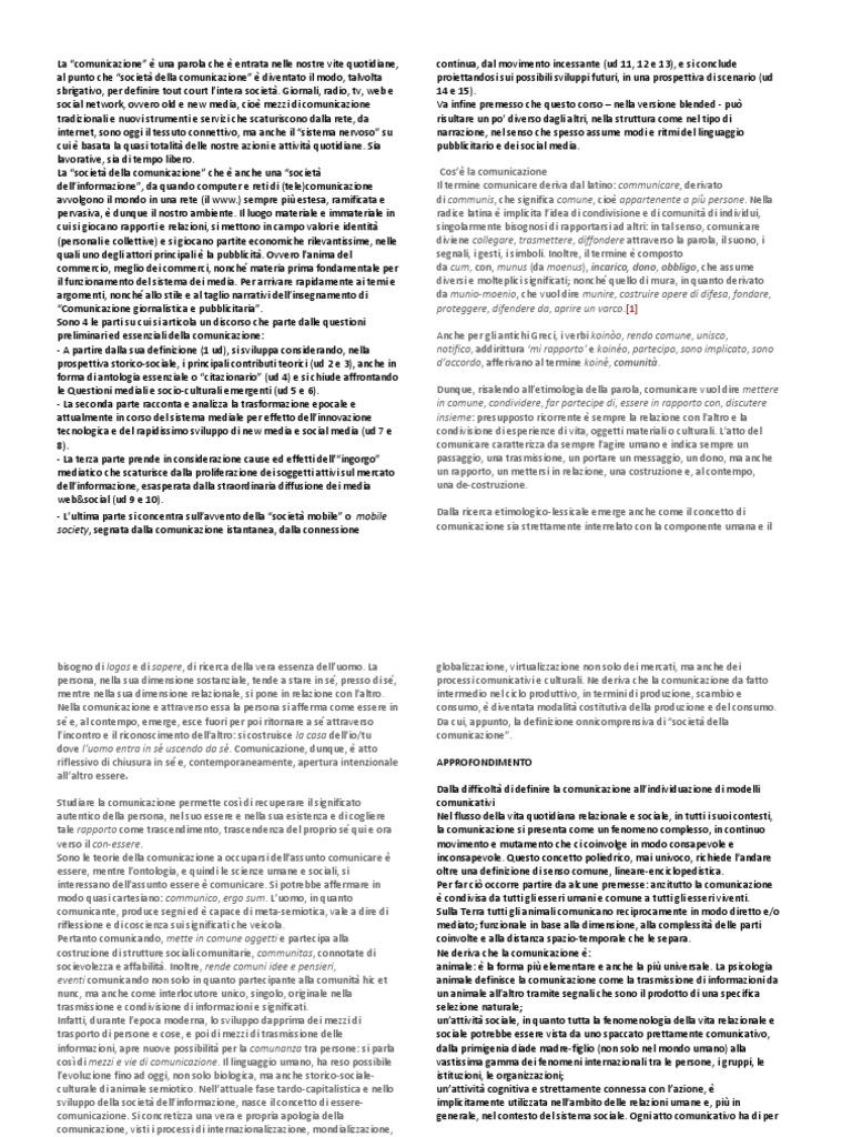 Dispense Sociologia della Comunicazione fdc799ba81f
