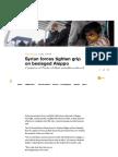 Syrian Forces Tighten Grip on Besieged Aleppo