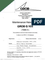 Grob G103 Maintenance Handbook