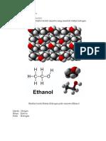 Tugas Struktur Kristal Ikatan Hidrogen Etanol