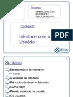 ARQ31 Interface Com o Usuário
