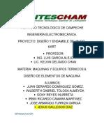 I Proyecto Maquinas Gokart Terminad