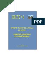 Diversité et Identité Culturelle en Europe (DICE) 6 (ABSTRACTS)