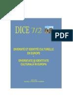 Diversité et Identité Culturelle en Europe (DICE) 7.2 (ABSTRACTS)