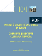 Diversité et Identité Culturelle en Europe (DICE) 10.1 (ABSTRACTS)