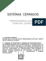 SISTEMAS  CERRADOS