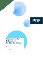 Tarea 1 Formacion de Tutores en Ambiente Virtual - INFOTEP