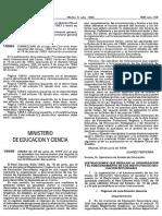 Orden 29 de Junio de 1994 Del Ministrario de Educación Artículos Del 69 Al 82