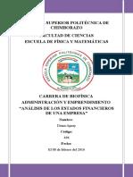"""A_diana_""""Análisis de Los Estados Financieros de Una Empresa"""""""