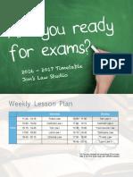 2016 - 2017 Timetable Finalized (PDF)