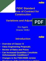 FIDIC - Variation & Adjustment