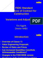 FIDIC - Variation & Adjustment