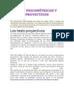 Test Psicométricos y Proyectivos