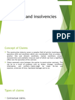 Claims and Insolvencies (1)