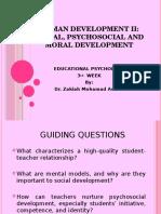 MINGGU 3 - Social, Psychosocial and Moral Development Update