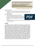 Bajos Ingresos Fiscales y Su Efecto en El Crecimiento de La Brecha Entre Ricos y Pobres en El Salvador en Los Años 2013-2015