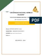 Estudio de Métodos en Informe en Agroindustria -YUNCAN INGENIERÍA de MÉTODOS II