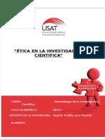 Etica en La Investigacion