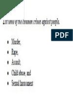 Common Crimes