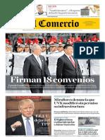 Portada del el comercio_Pedro Pablo Kuczynski- Xi Jinping