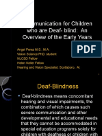 communication for children who are deaf- blind