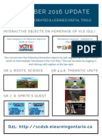 December 2016 Update Provincial Digital Tools Update