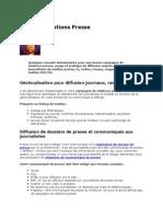 Conseils Relations Presse