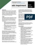 fact sheet orthopedic impairment