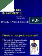 orthopedic impairments 2