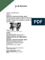 Calibracion de Valvulas e Inyector Bomba Motor D12D VOLVO