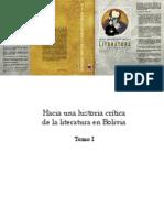 Hacia Una Historia Crítica de La Literatura en Bolivia (Tomo I) -  Blanca Wiethüchter, Alba María Paz Soldán, Omar Rocha, Rodolfo Ortiz