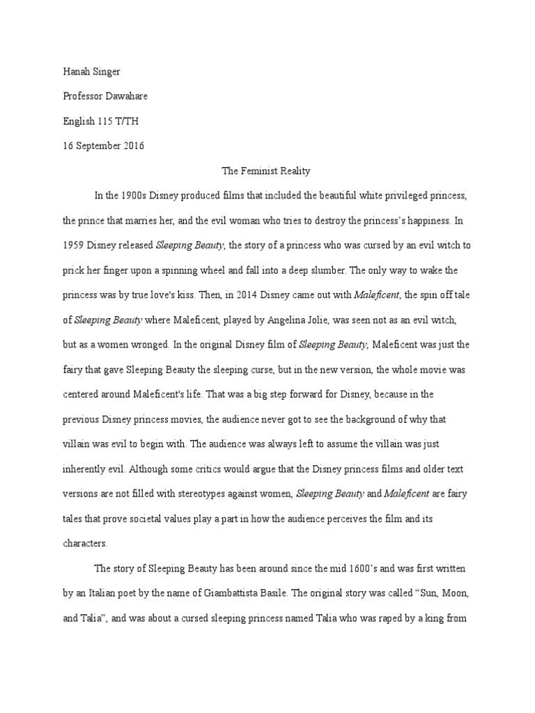 essay 1 | Sleeping Beauty | Fairy Tales