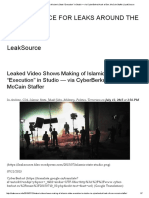 "Leaked Video Shows Making of Islamic State ""Execution"" in Studio — via CyberBerkut Hack of Sen"